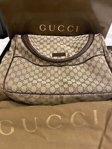 AUTHENTIC GUCCI DIAPER BAG WITH DUST BAG