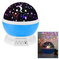 Lampe Chambre Projecteur Lumière Ambiance LED Coloré Rotatif Étoile Lune Ciel