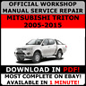 OFFICIAL WORKSHOP Service Repair MANUAL for MITSUBISHI TRITON 2005-2015 #