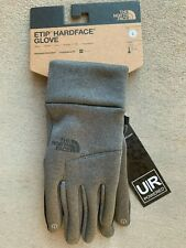 The North Face mens ETIP Hardface Touchscreen Gloves Grey size Large