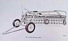 Ih Mccormick No 5 Side Delivery Hay Rake Setting Up Parts Manual Farmall Cub