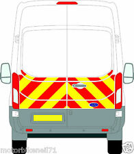 Ford Transit H3/H2 Chapter 8 Reflective Rear Half Chevron Graphic kit   2014-16