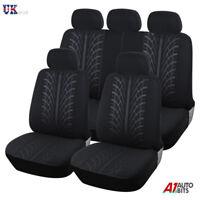 Universal Car Seat Cover Set (9 Pieces) Black Light Washable & Airbag Compatible
