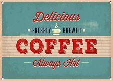 café, estilo antiguo, Letrero Metal, Coleccionable, no.756