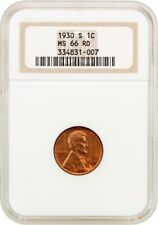 1930-S 1c NGC MS66 RD (OH) Old NGC Holder - Lincoln Cent - Old NGC Holder