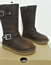 "BRAND  NEW UGG ""KENSINGTON"" BROWN LEATHER BOOT TODDLER SIZE 10"