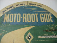 Vintage MOTO ROOT GIDE Circular Route Guide Calculator Out of Chicago Karsten's