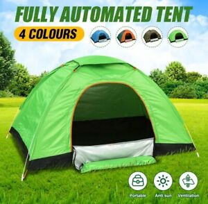1~2 Person Automatic Easy Open  Pop Up Outdoor Portable Family Camping Tent .