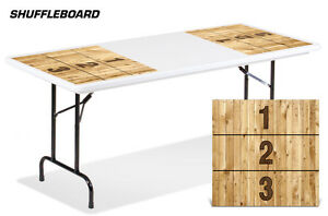 Universal Boardgame Folding Table Top Camping Game Decal Sticker Mats SHUFFLE BD
