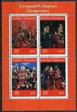 Madagascar 2019 CTO Liverpool FC Champions League 4v M/S Football Sports Stamps