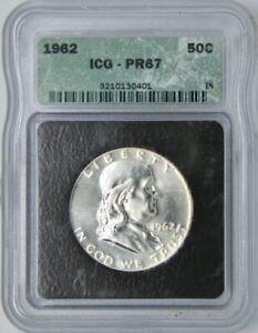 1962 Franklin Half Dollar 50C   ICG PR67  -Gem, Proof-