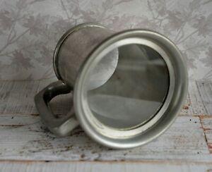 Craftsman Pewter Sheffield England Glass Bottom 1 Pint Tankard VGC