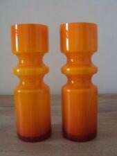 Orange Retro Scandinavian Art Glass