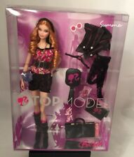 Top Model Summer Barbie 2007 Collectible Strawberry Blonde Curls Mattel New