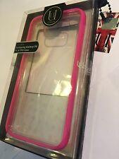 Samsung Galaxy S6 TPU Case Crystal Clear & Pink Bumper UUOOSGS6PT04 UUnique - UK