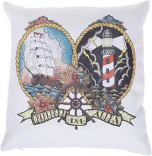 Küstenluder ÜBERLEBEN IST ALLES Sailor Ship Leuchtturm KISSENBEZUG Rockabilly