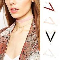 Fashion Choker Velvet Chain Pearl Pendant Collar Necklace Retro Gothic Jewelry F