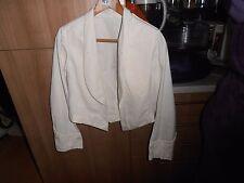 "1940s Scottish Regiment Offr's  O/S  White Cotton Mess Jacket C 36"""