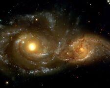 GRAZING ENCOUNTER B/W TWO SPIRAL GALAXIES HUBBLE SCOPE  8X10 NASA PHOTO (AB-681)