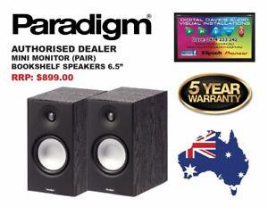 PARADIGM: MINI MONITOR Bookshelf Speakers (PAIR) Brand New. RRP: $899