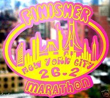 2017 any year New York City Nyc Marathon Sky Line Decal Luggage,Suit,CarWindow