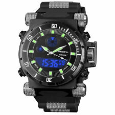 Infantry IN-050-BLK-R 50mm Black Dial Black Rubber Strap Wrist Watch for Men