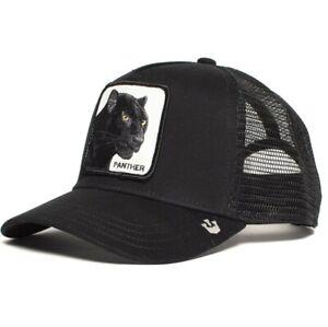 Goorin Bros Animal Farm Black Panther Trucker Mesh Baseball Hat Snapback Cap New
