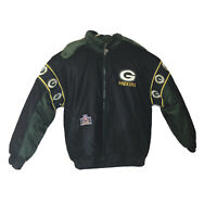 VTG Pro Player Green Bay Packers Jacket Reversible Puffer Mens Size L 90s RARE
