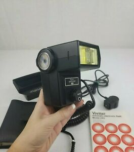 Vivitar 283 Flash + Instructions/Sensor & Filter Adapter & 4PC Lens Kit in Case
