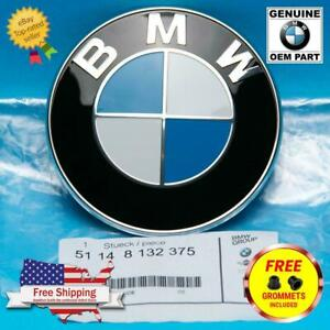 GENUINE 82mm BMW Hood / Trunk Emblem Roundel w/ Grommets INC. (OEM# 51148132375)