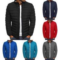 US Men Lightweight Hooded Zipper Jacket Slim Fit Puffer Insulated Coat Jacket SH