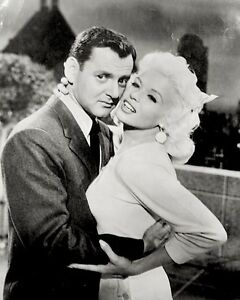 Jayne Mansfield Press Photo 1957 Tony Randall OH! What A Man Stamped Snipe VTG