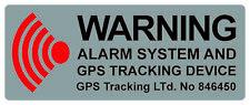 5x Alarm gesichert, Alarmanlage, Überwacht Aufkleber 5x2 cm, Silber/Rot/Schwarz