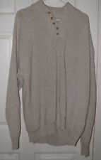 Mens GRAY CABELAS Outfitter knit 5 Button HENLEY Sweater shirt TXXL Price 2 Sell