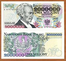 Poland, 2000000 (2,000,000) Zlotych, 1993, P-163, UNC