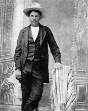 Outlaw gunfighter icon JOHN WESLEY HARDIN Vintage 8x10 Photo Old West Portrait