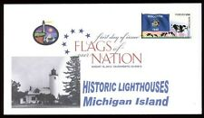 Flags of our Nation - Wisconsin (Sc. 4330) Michigan Island Lighthouse