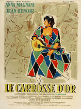 Jean Renoir Le carrosse d'or French 1953 movie poster print 2