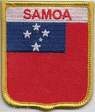Samoa Flag Shield Embroidered Patch Badge