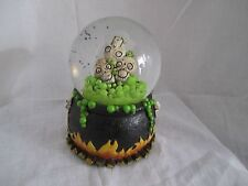 2012 Yankee Candle Boney Bunch Halloween Bats/Skulls Lighted Water Globe NEW