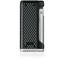 Colibri Monza Black And Silver Triple Jet Flame Lighter Luxury Gift Boxed