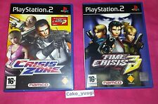 CRISIS ZONE + TIME CRISIS 3 SONY PS2 PLAYSTATION 2 TRES BON ETAT FRANCAIS