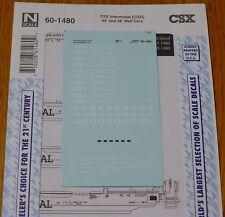 Microscale Decal N #60-1480 CSX Intermodel (CSXI) 40' & 48' Well Cars (Decal)