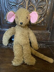 Vintage Cute Teddy Bear Mouse With Big Ears And Tail! 14 Inches