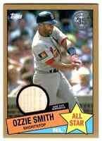 2020 Topps Series 2 Gold Parallel 1985 Ozzie Smith Cardinals Bat Relic /50