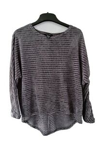3 Quarter Bat Wing Sleeve Sweater With Sparkle Stitch Size S newlook
