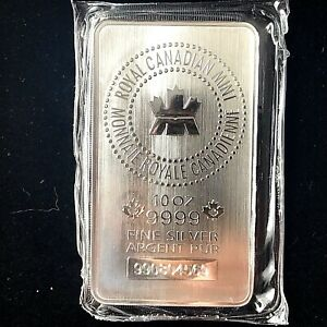 RCM 10 oz Silver Bar - Royal Canadian Mint .9999 Fine Silver Bullion (SEALED).