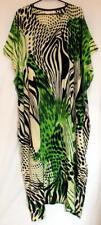 Batik Kaftan Calf Length Artistic Design Black Green - New
