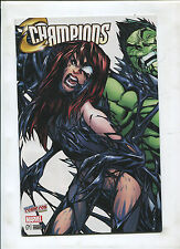 NYCC CONNECTING COVER SET J.SCOTT CAMPBELL CHAMPIONS #1 AMAZING SPIDERMAN #19 NM