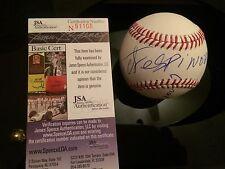 Victor Espinoza Autographed Hand Signed Oml Baseball Triple Crown Horse Jsa Cert